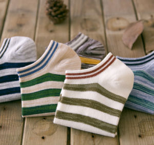 Spring Autumn Boat Striped Cotton Fashion Wholesale Men′s Socks pictures & photos