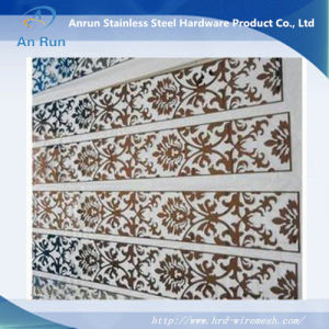 China metal aluminium perforated laser cut decorative for Decoration porte aluminium