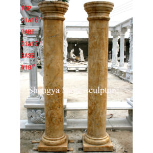 Yellow Marble Stone Sculpture Column (SY-C005) pictures & photos