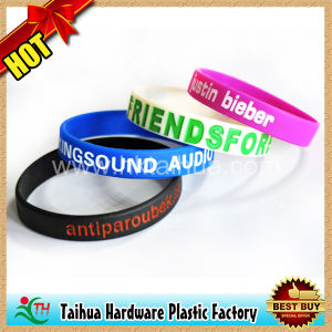 Custom Design Silicone Bands with Debossed (TH-6881) pictures & photos