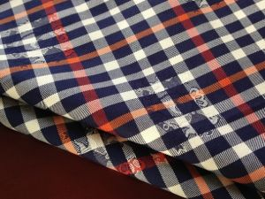 Checked Jacquard Yarn Dyed Fabric Red White Black (061)