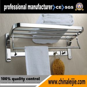 304 Stainless Steel Double Layer Folding Towel Rack (LJ502T) pictures & photos