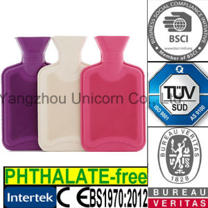 BS / TUV / SGS / Phthalate Free Rubber Hot Water Bottle