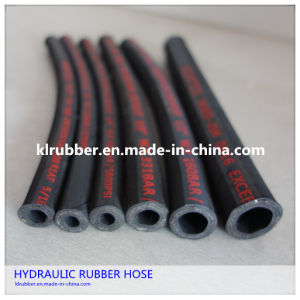 SAE 100r2at/2sn Wire Braid Reinforcement Rubber Hydraulic Hose pictures & photos