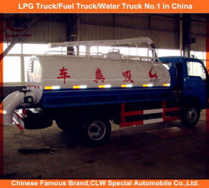 Dongfeng 6 Wheeler Vacuum Suction Sewage Cleaning Truck pictures & photos