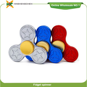 Wholesale Promotional Gift Fidget Spinner Light Hand Spinner Zinc Alloy Toy pictures & photos