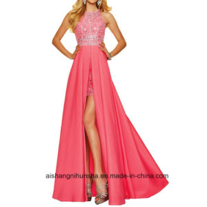 Women Beading Chiffon Backless Evening Dress Prom Dress pictures & photos