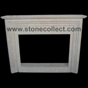 Beige Marble Fireplace pictures & photos