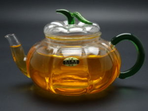 Purely Handwork 600ml Flower& Coffee Glass Tea Pot, Large Glass Teapots, Heat Resistant Glass Tea Pots with Infuser