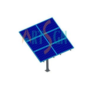 4 Modules Solar PV Pole Ground Racking System Structure pictures & photos