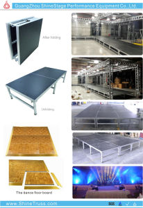 Smile Stage Portable Indoor Event Stage Folding Stage pictures & photos