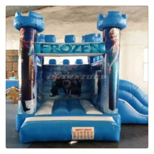 2016 New Arrival Frozen Theme Inflatable Castle with Side Slide pictures & photos