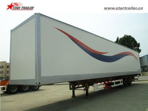 Best Selling 3axles Box Trailer Van Semi Trailer pictures & photos