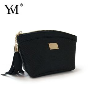 Elegant Fashion Promotional PU Leather Cosmetic Makeup Pouch Bag pictures & photos