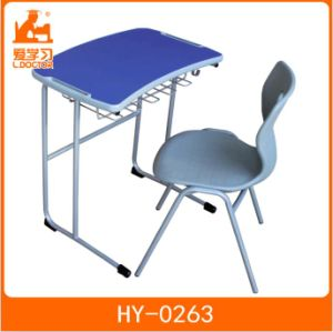 Primary School Desk with Attached Chair for Students pictures & photos