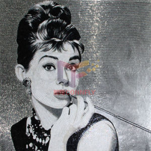 Breakfast at Tiffany′s Picture Audrey Hepburn for Wall Decoration Mosaic, Glass Art Mosaic (CFD229) pictures & photos