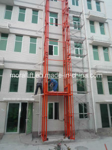 Hydraulic Heavy Loading Rail Hydraulic Vertical Lift Platform pictures & photos