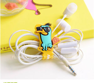 PVC Rubber Cable Winder Earphone Promotion Gift pictures & photos
