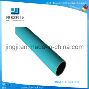 Steel Pipe Blue Lean PE Flexible Coated Steel Pipe and Tube Round (HJ-4000)