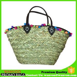 Custom Seagrass Woven Beach Bag for Lady pictures & photos