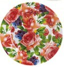 Ceramic Cake Plate, Full Rim Decal