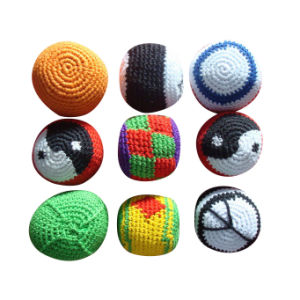 "2"" Woven Kickball Knitted Kickball Footbag pictures & photos"
