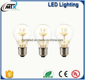 3W, Edison A19 LED Light Bulb, Fireworks Starry, Ultra warm 2200K, Decorative For Pendant Lamp, Dimmable pictures & photos