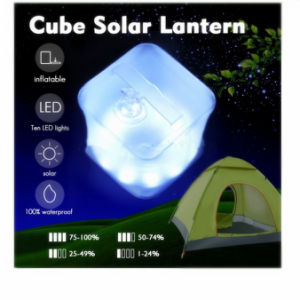 Cube Solar Lantern, Waterproof Outdoor Lantern for Hiking and Camping pictures & photos