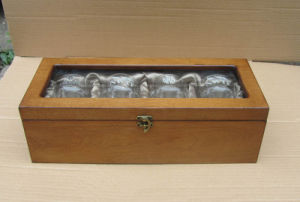 Wooden Box With Whiskey Glass Sets (SF2284)