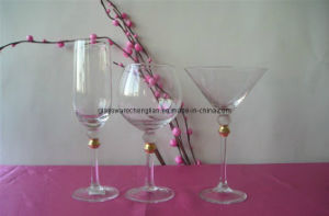 Gold Ball on Glass Stem for Glass Cup Set (B-GS05) pictures & photos