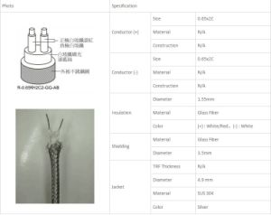 High Quality Extension Wire for Kjres Type Thermocouple pictures & photos