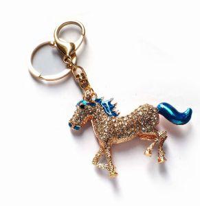 Shiny Diamante Horse Key Ring