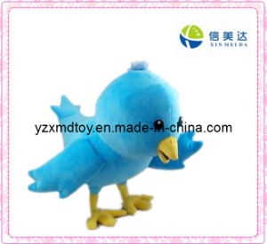 Cute Blue Bird Plush Toy for Kids pictures & photos