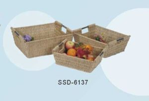 Home Storage Baskets Made From Seagrass in Natural Color (SSD-6137)