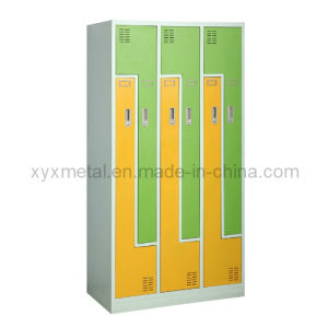 Fashion Z Shape Double Doors Small Office Lockers pictures & photos