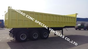 Cimc 40cbm Tri-Axle Dump Tipping Semi Truck Trailer Chassis pictures & photos
