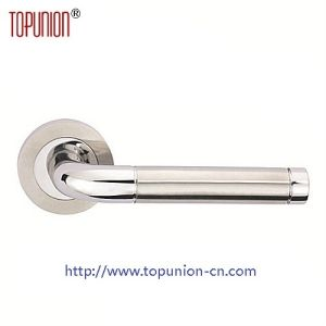 High Security Ss304 Solid Door Lever Handle (CLH016) pictures & photos