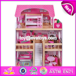 New Design Pretend Play Miniature Wooden Toy Doll House for Kids W06A228 pictures & photos