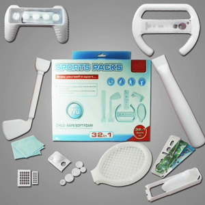 32 In 1 Sport Pack for Wii Kit Video Game Accessory