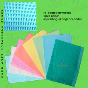 Disposable PE Coated Paper Dental Bib (WH-AP) pictures & photos