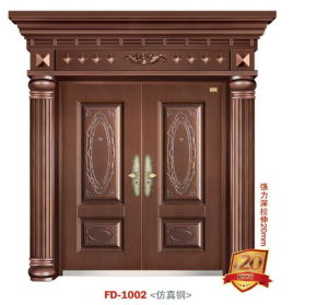Entrance Door China Supplier (FD-1002) pictures & photos