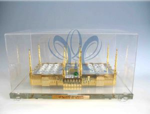 Holy Mosque Medina (Crystal and Gold Model) Extra Large