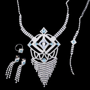 Elegant Rhinestone Necklace Set (YCN0089)