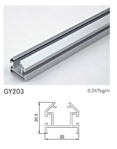 Anodised Silver Aluminium Track for Wardrobe Frame pictures & photos
