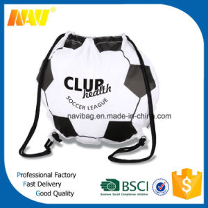 210d Polyester Nylon Football Shaped Drawstring Bag pictures & photos