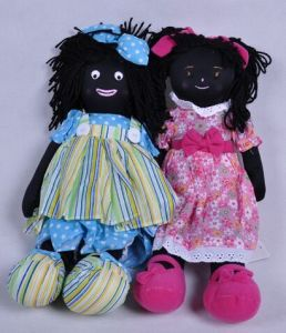 Black Skin Plush Doll with Makeup Dolls pictures & photos