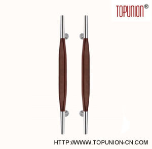 Elegant Design Stainless Steel Wooden Pull Handle (TU-350-M) pictures & photos