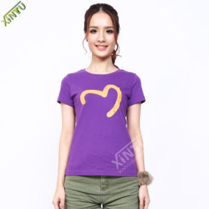 100% Cotton Wholesale Fashion Women T-Shirt pictures & photos