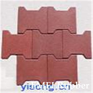 Interlocking Dog-Bone Rubber Pavers for Horse Path Way pictures & photos