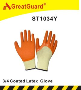 3/4 Glass Gripper Glove (ST1034Y) pictures & photos